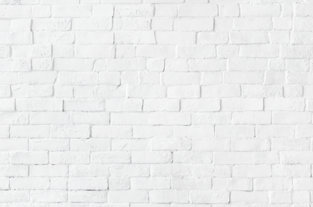 White brick wall textured background Stock Photo