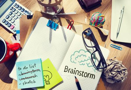 Brainstorm written on a notebook Reklamní fotografie