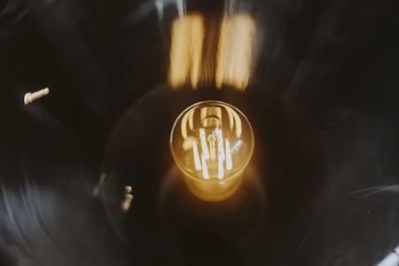 Closeup of a bright light bulb