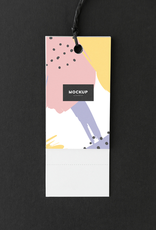 Colorful bookmark tag mockup design 写真素材 - 113087571