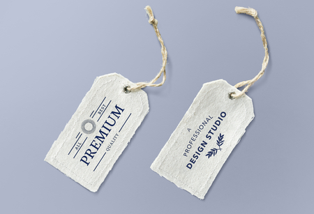 Natural cotton cloth label mockup Imagens