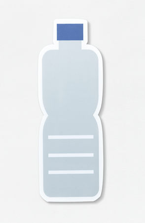 Plastic bottle icon on isolated