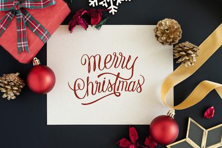 Merry Christmas greeting card mockup