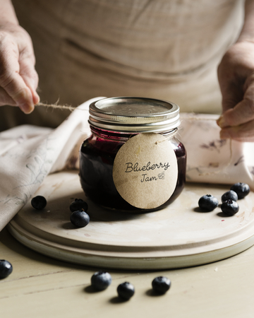 Homemade jam in a jar