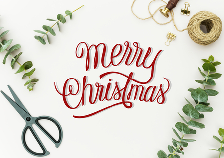 Christmas holiday greeting design mockup Фото со стока