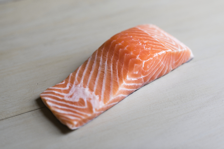 Fresh raw salmon food photography recipe idea