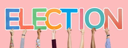 Colorful letters forming the word election Stock Photo