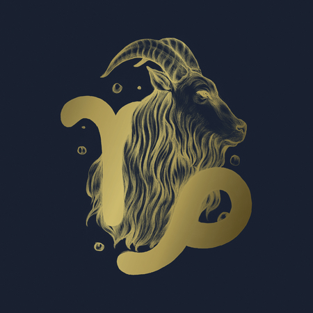 Hand drawn horoscope symbol of illustration