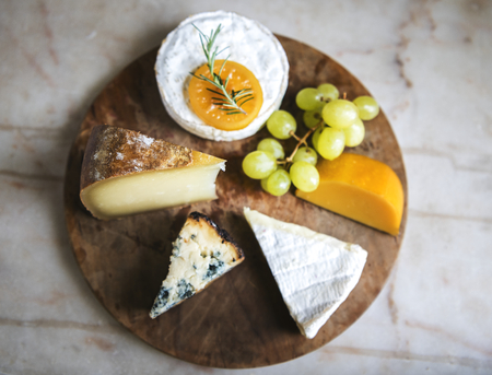 Cheese platter food photography recipe idea Фото со стока