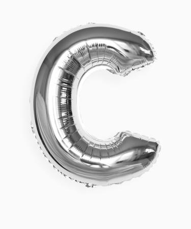 Capital letter C silver balloon
