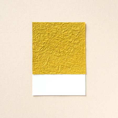 Design space on textured gold paper