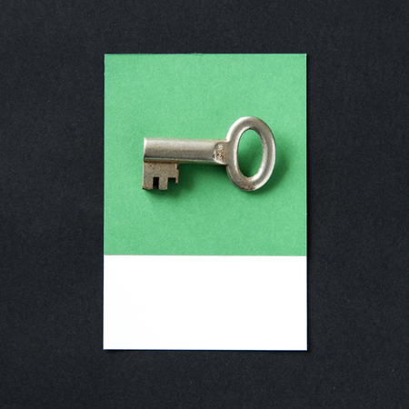 Metal key object as security icon