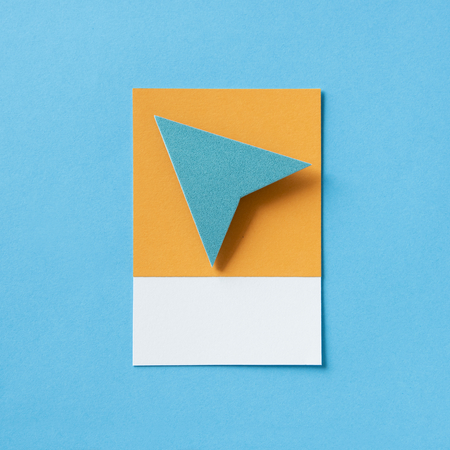 Paper plane triangle arrow icon
