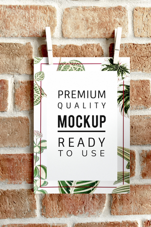 Ready to use premium quality mockup poster