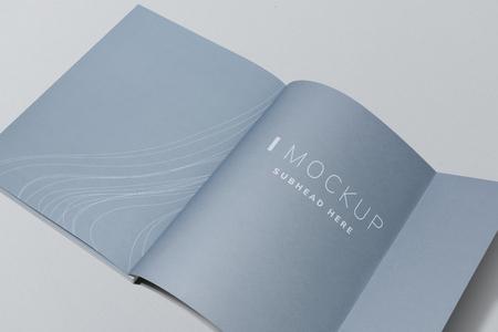 Last page of a magazine mockup