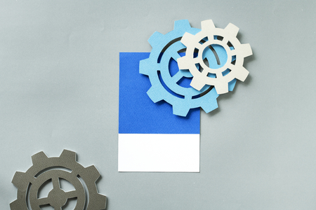 Paper craft art of cogs Stock Photo