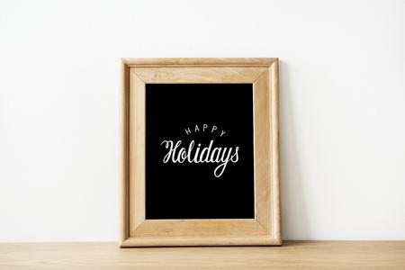 Festive wooden frame template mockups Фото со стока
