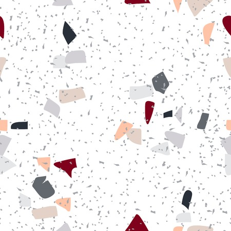 Colorful Terrazzo seamless pattern vector