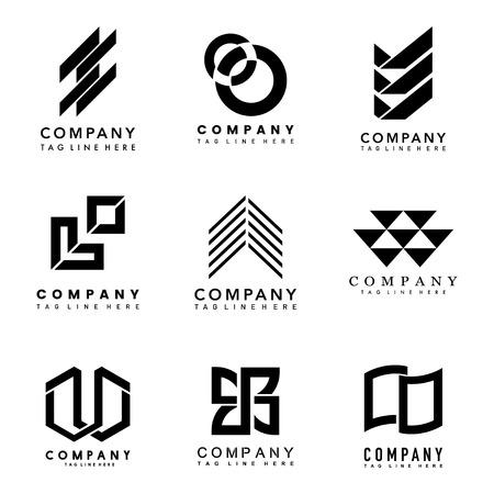 Set di idee per la progettazione del logo aziendale vettoriale