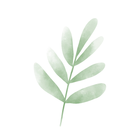 Watercolor graphic of leaves design