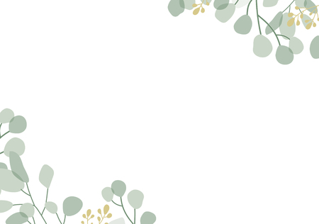 Blank foliage frame background vector