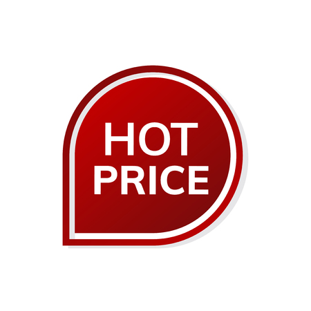 Red hot price badge vector Ilustrace