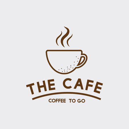 The cafe coffee cup vector
