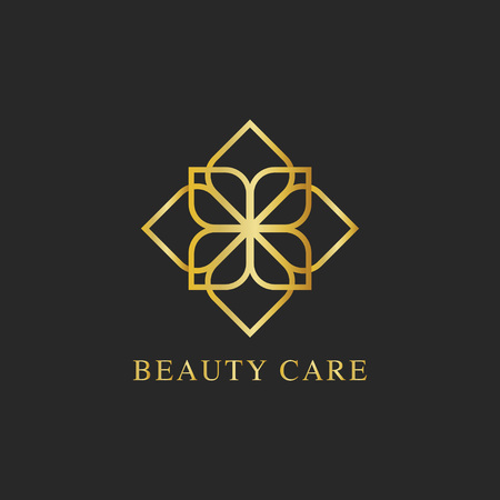 Beauty care design logo vector Çizim