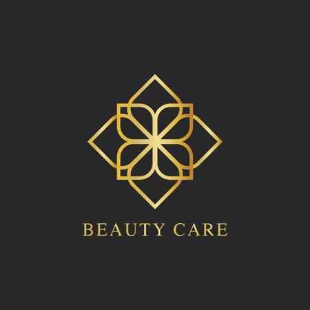 Vettore di logo di design per la cura della bellezza
