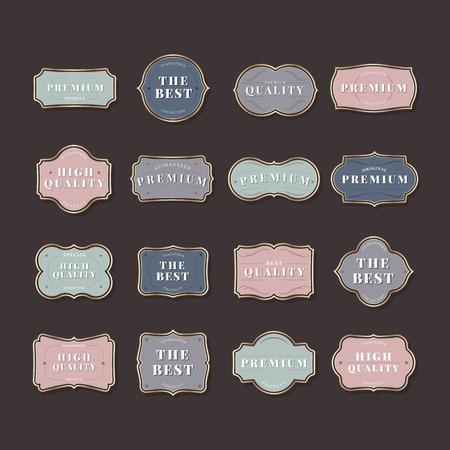 Colorful vintage premium badge vectors Ilustracja