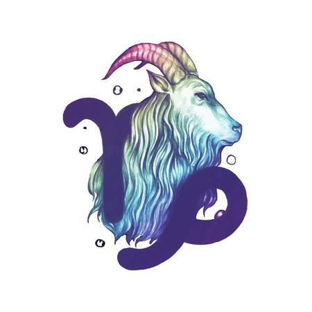 Símbolo del horóscopo dibujado a mano de la ilustración