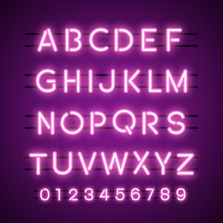 The Alphabet and numeral system vectors Çizim