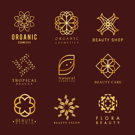 Collection of organic cosmetics logo vector Logo