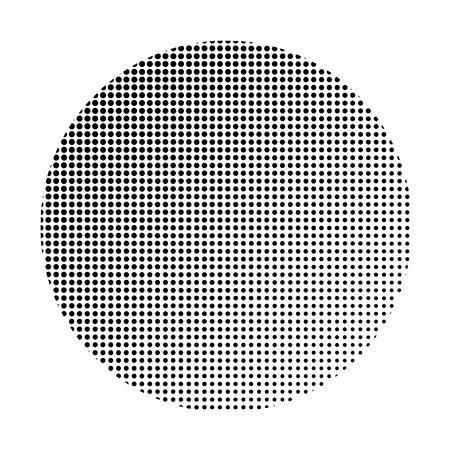 Black halftone badge on white background vector Illustration