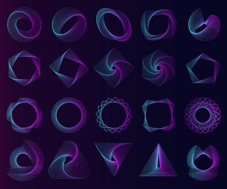 Abstract geometric elements set vector Stock Vector - 114600969