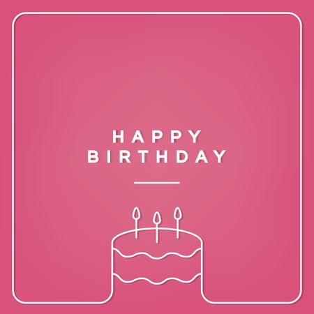 Birthday celebration greeting card vector Illustration