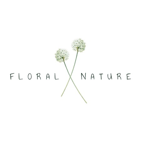 Floral nature logo design vector Çizim