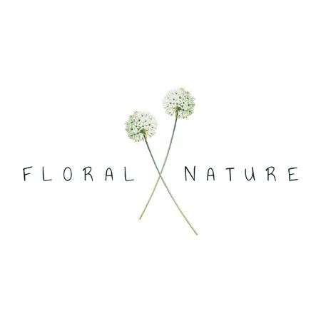 Vector de diseño de logotipo de naturaleza floral
