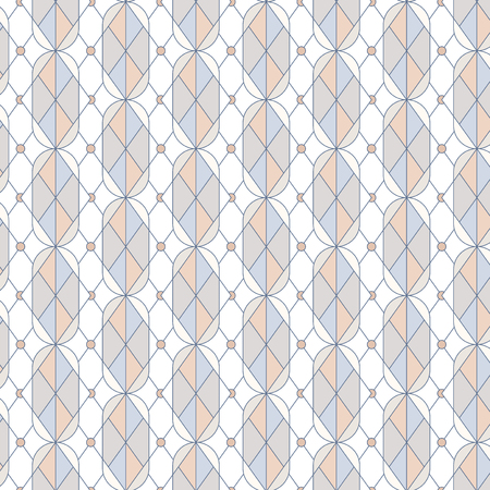 Colorful pastel geometric seamless pattern vector Illustration