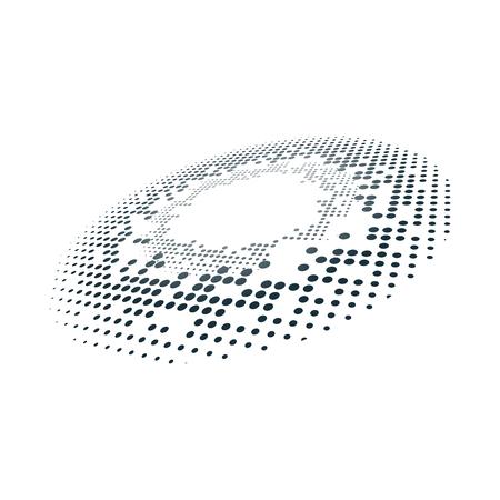 Black halftone badge on white background vector Standard-Bild - 126453024