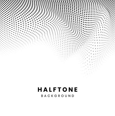 Black wavy halftone on white background vector Standard-Bild - 126453028