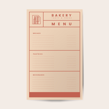 Pastries and beverages menu template vector Standard-Bild - 126453035