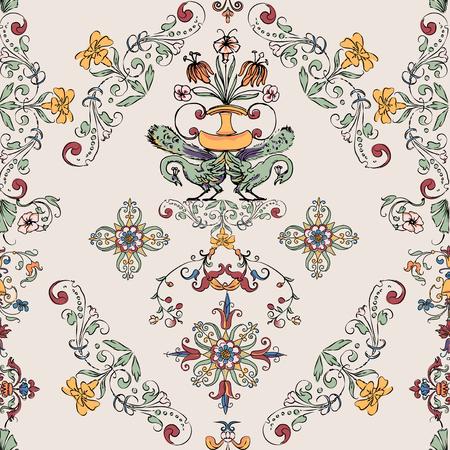 Vintage flourish pattern Çizim