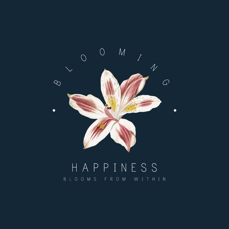 Happiness blooms from within with lily flower vector