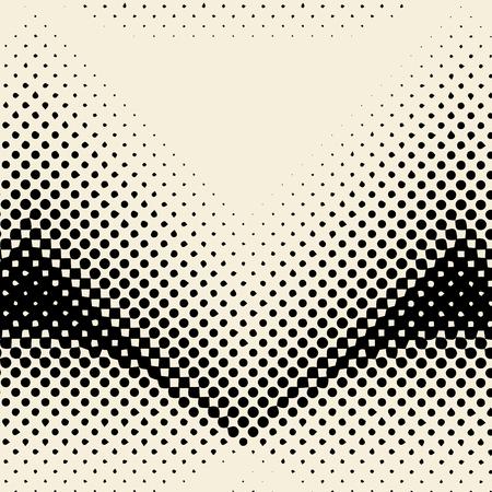 Black and beige halftone background vector Illustration