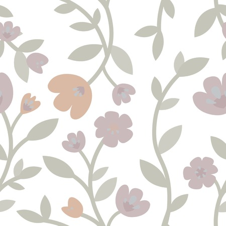 Hand drawn roses and plants illustration Standard-Bild - 126453057
