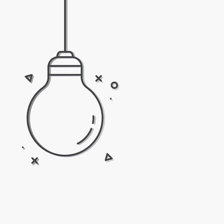 Black creative light bulb icon vector 일러스트