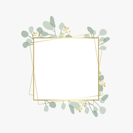 Floral themed badge design vector Stock Illustratie