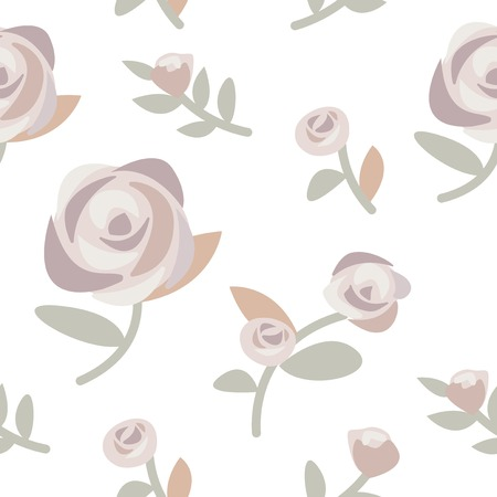 Hand drawn roses and plants illustration Standard-Bild - 126453082