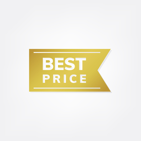 Gold best price banner vector